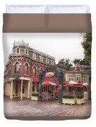 Corner Cafe Main Street Disneyland 02 Duvet Cover