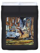 Corner Deal By Prankearts Duvet Cover
