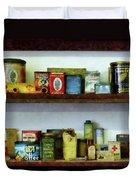 Corner Grocery Store Duvet Cover