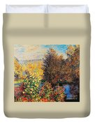 Corner Of Garden In Montgeron Duvet Cover
