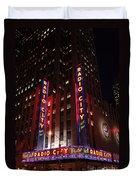 Corner Of Radio City Music Hall Duvet Cover