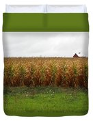Cornfield And Farmhouse Duvet Cover