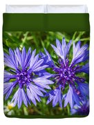 Cornflowers Growing In A Field Duvet Cover