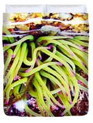 Cornish Rock Pool Snakelocks Anemone Duvet Cover