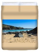 Cornish Seascape Gunwalloe Duvet Cover