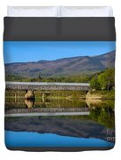 Cornish Windsor Covered Bridge Duvet Cover by Edward Fielding