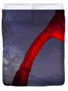 Corona Arch Milk Way Red Light Duvet Cover