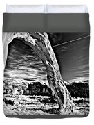 Corona In Black And White Duvet Cover