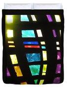 Coronado Hospital Chapel Stained Glass Duvet Cover