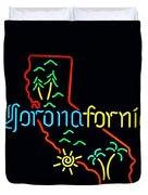 Coronafornia Duvet Cover