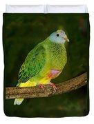 Coronated Fruit Dove Duvet Cover