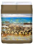 Corrimal Beach Near Towradgi Rook Pool Duvet Cover