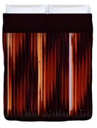 Corrugated Patterns In Orange And Black Duvet Cover