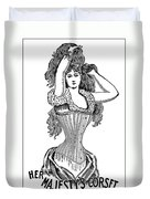 Corset Advertisement  1897 Duvet Cover