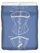 Corset Patent From 1873 - Light Blue Duvet Cover
