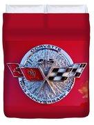 Corvette 25th Anniversary Emblem 1 Duvet Cover
