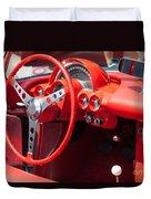 Corvette Dashboard Duvet Cover