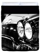 Corvette Picture - Black And White C1 First Generation Duvet Cover