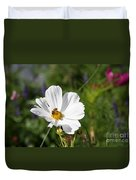Cosmea And Bee Duvet Cover