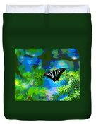 Cosmic Butterfly In The Pines Duvet Cover
