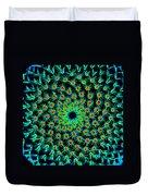 Cosmic Cacti In Spokane Duvet Cover