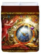 Cosmic Clock Duvet Cover by Ciro Marchetti