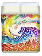 Cosmic Waves Duvet Cover
