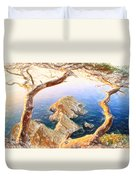 Costa Brava In Spain With Crayons Duvet Cover