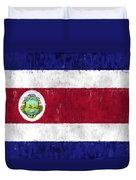 Costa Rica Flag Duvet Cover