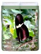 Costa Rican False Postman Butterfly Duvet Cover