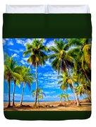 Costa Rican Paradise Duvet Cover