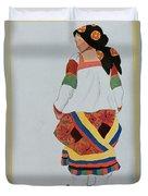 Costume Design For A Peasant Girl, 1922 Duvet Cover