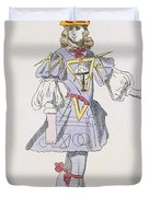 Costume Design For Geometry In A 17th Duvet Cover