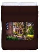 Cottage At The Church In Giethoorn. Netherlands Duvet Cover