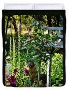 Cottage Bird Garden Duvet Cover
