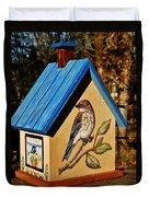 Cottage Birdhouse-back Duvet Cover