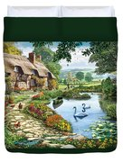 Cottage By The Lake Duvet Cover