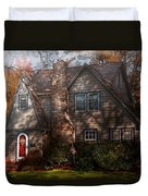 Cottage - Cranford Nj - Autumn Cottage  Duvet Cover