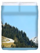 Cottage In Alps Duvet Cover