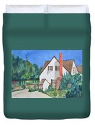 Cottage On A Hill Duvet Cover