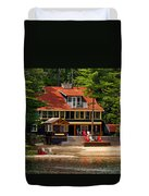 Cottage On A Lake Duvet Cover