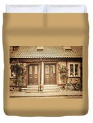 Cottage Townhouses In Lund Duvet Cover