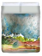 Cottages In Brittany Duvet Cover