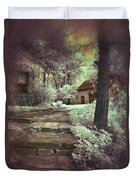 Cottages In The Woods Duvet Cover by Jill Battaglia