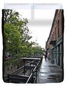 Savannah Ga Cotton Broker Walk  Duvet Cover