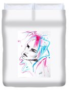 Cotton Candy Girl Duvet Cover