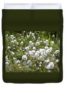 Cotton Grass On Homestead Trail In Homer-ak- Duvet Cover