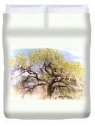 Cottonwood Tree Digital Painting Duvet Cover