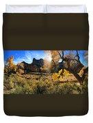 Cottonwoods In Buckhorn Wash 4055 Duvet Cover