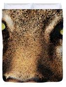 Cougar Eyes Duvet Cover